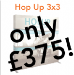 3x3 Hop Up Fabric Pop Up